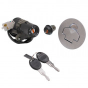 IGNITION SWITCH FOR 50cc MOTORBIKE APRILIA RS50 1999> (WITH SEAT LOCK + FUEL CAP) -SELECTION P2R-