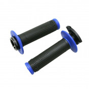 GRIP- PROGRIP OFF ROAD 708 TRIPLE DENSITY BLACK/BLUE 115mm ( LOCK ON) (SUPPLIED WITH 5 DIFFERENT THROTTLE CAMS) (PAIR) (CROSS/MX)