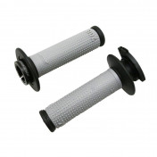 GRIP- PROGRIP OFF ROAD 708 TRIPLE DENSITY GREY/BLACK 115mm ( LOCK ON) (SUPPLIED WITH 5 DIFFERENT THROTTLE CAMS) (PAIR) (CROSS/MX)