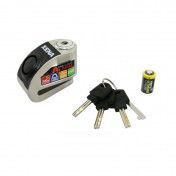 MOTORCYCLE ANTITHEFT- - DISC LOCK XENA XZZ6L - STAINLESS WITH AUDIBLE ALARM 120 dB (-Ø 6 mm)