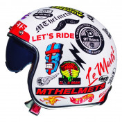 HELMET-OPEN FACE MT LE MANS 2 SV ARNACHY WHITE XL