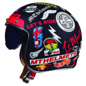 HELMET-OPEN FACE MT LE MANS 2 SV ARNACHY BLACK XL
