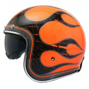 CASQUE JET MT LE MANS 2 SV FLAMING ORANGE FLUO XS