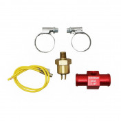 """COOLING ADAPTER VOCA T-LINK WITH THERMO-SWITCH 18mm 1/8"""" RED"""