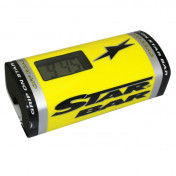 BAR PAD - MOTO CROSS STAR BAR BOOSTER CHRONO YELLOW- WITH INTEGRATED TIMER.