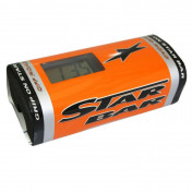 BAR PAD - MOTO CROSS STAR BAR BOOSTER CHRONO ORANGE- WITH INTEGRATED TIMER.