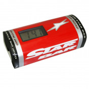 BAR PAD - MOTO CROSS STAR BAR BOOSTER CHRONO RED- WITH INTEGRATED TIMER.