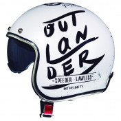 HELMET - OPEN FACE MT LE MANS 2 SV OUTLANDER - GLOSS PEARL WHITE - XL