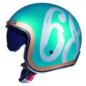 HELMET-OPEN FACE MT LE MANS 2 SV HIPSTER GLOSS GREEN M