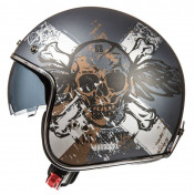 HELMET-OPEN FACE MT LE MANS 2 SV HARDCORE BROWN/MATT GREY- XXL
