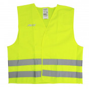 REFLECTIVE SAFETY VEST -ADX - VELCRO - YELLOW JAUNE (CEE APPROVED)