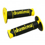 REVETEMENT POIGNEE DOMINO OFF ROAD A260 NOIR/JAUNE (120 mm) (PAIRE) -DOMINO ORIGINE-