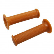 GRIP- DOMINO ORIGINAL- ON ROAD 1124 CAFE RACER BROWN 128mm CLOSED END (PAIR) -