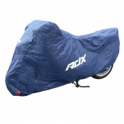 PROTECTIVE COVER FOR MOTORBIKE ADX 100% WATERPROOF-BLACK 203x89x119cm (POLYESTER/BUCKLE+EYELETS)