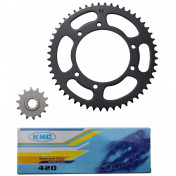 CHAIN AND SPROCKET KIT FOR PEUGEOT 50 XP6 2000>2003 420 14X52 (BORE Ø 105mm) -SELECTION P2R-