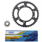 CHAIN AND SPROCKET KIT FOR MBK 50 X-LIMIT 2003>2006/YAMAHA 50 DTR 2003>2006 420 11x50 (BORE Ø 105mm) (OEM SPECIFICATION) -SELECTION P2R-