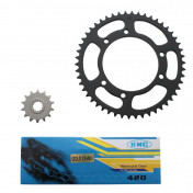 CHAIN AND SPROCKET KIT FOR MBK 50 X-LIMIT/YAMAHA 50 DTR 2004> 420 14x50 (BORE Ø 105mm) -SELECTION P2R-