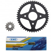 CHAIN AND SPROCKET KIT FOR MBK 50 X-POWER 2000>/YAHAHA 50 TZR 2000> 420 13x47 (BORE Ø 54mm) -SELECTION P2R-