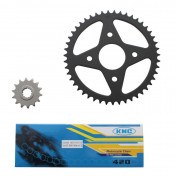 CHAIN AND SPROCKET KIT FOR MBK 50 X-POWER 2000>/YAMAHA 50 TZR 2000> 420 14x47 (BORE Ø 54mm) -SELECTION P2R-