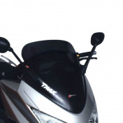 BULLE/SAUTE VENT MAXISCOOTER POUR YAMAHA 500 TMAX 2008>2011 FUME FONCE (H 580mm - L 525mm) -FACO-