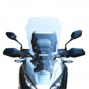 WINDSHIELD FOR MAXISCOOTER HONDA 750 X-ADV 2017> TRANSPARENT (H 687mm - L 490mm) -FACO-