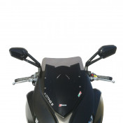 WIND SHIELD FOR MAXISCOOTER FOR KYMCO 400 X-CITING S 2018> DARK SMOKED (H 480mm - L 330mm) -FACO-