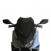 WIND SHIELD FOR MAXISCOOTER FOR KYMCO 550 AK 2017> SMOKED (H 480mm - L 390mm) -FACO-