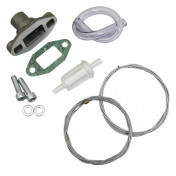 ACCESSORY KIT FOR DELLORTO CARB SHA 15 TYPE - MALOSSI - FOR MBK 88 - (GASKETS, CABLES, HOSES, JUNCTIONS, FILTER) (20 4017)