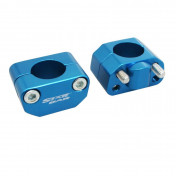 HANDLEBAR RISER-STARBAR-ALUMINIUM-UNIVERSAL Ø 28,6mm BLUE (PAIR)