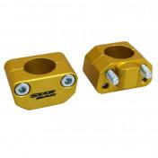 HANDLEBAR RISER-STARBAR-ALUMINIUM-UNIVERSAL Ø 28,6mm GOLD (PAIR)