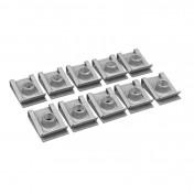 AGRAFE/ECROU TOLE CARROSSERIE DIAM 6mm (SACHET DE 10 PIECES) -P2R-