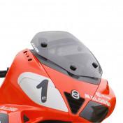 BULLE/SAUTE VENT MAXISCOOTER POUR GILERA 125-250-300-500 NEXUS / APRILIA 125-300 SR-MAX FUME (H 450mm - L 425mm) -MALOSSI-