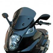 BULLE/SAUTE VENT MAXISCOOTER POUR GILERA 800 GP FUME (H 420mm - L 395mm) -MALOSSI-