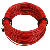 ELECTRIC WIRE 12/10 (1,00mm) RED (50M) -SELECTION P2R-