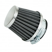 AIR FILTER REPLAY KN - STEEL GRID- CHROME STRAIGHT FIXING Ø 28/35 L45MM