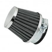 AIR FILTER REPLAY KN - STEEL GRID- CHROME STRAIGHT FIXING Ø 28/35 L50 mm-(TOTAL L. 80mm,HORN L. 60mm)