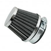 AIR FILTER REPLAY KN - STEEL GRID- CHROME STRAIGHT FIXING Ø 28/35 L55 mm