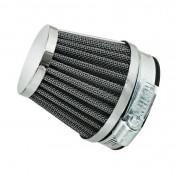 AIR FILTER REPLAY KN - STEEL GRID- CHROME STRAIGHT FIXING Ø 28/35 L60 mm