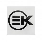 AUTOCOLLANT/STICKER EK NOIR 75 x 75 mm (VENDU A L'UNITE) -ARTEK-