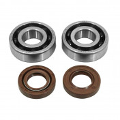 BEARING FOR CRANKSHAFT+SEALS FOR 50CC MOTORBIKE ARTEK FOR DERBI 50 SENDA, GPR/GILERA 50 SMT, RCR ( EURO 2 + EURO 3 ENGINE) (BEARING KIT 6204 TPI POLYAMID C4 + VITON SEALS)