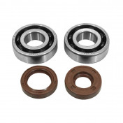 BEARING FOR CRANKSHAFT+SEALS FOR 50CC MOTORBIKE ARTEK FOR MINARELLI 50 AM6/MBK 50 X-POWER/YAMAHA 50 TZR/PEUGEOT 50 XPS, XR6/RIEJU 50 RS1/BETA 50 RR (BEARING KIT 6204 TPI + VITON SEALS)
