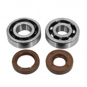 BEARING FOR CRANKSHAFT+SEALS FOR 50CC MOTORBIKE ARTEK FOR MINARELLI 50 AM6/MBK 50 X-POWER/YAMAHA 50 TZR/PEUGEOT 50 XPS, XR6/RIEJU 50 RS1/BETA 50 RR (BEARING KIT 6303/6204 TPI + VITON SEALS)