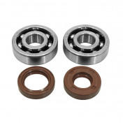 BEARING FOR CRANKSHAFT+SEALS FOR 50CC MOTORBIKE ARTEK FOR MINARELLI 50 AM6/MBK 50 X-POWER/YAMAHA 50 TZR/PEUGEOT 50 XPS, XR6/RIEJU 50 RS1/BETA 50 RR (BEARING KIT 6303 TPI POLYAMID C4 + VITON SEALS)