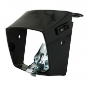 COWLING FOR HEADLIGHT FOR MOPED PEUGEOT 103 MVL, VOGUE BLACK (WITH SPRING + BRACKET) -SELECTION P2R-