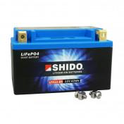"BATTERY 12V 4 Ah LTX12-BS SHIDO LITHIUM ION ""READY TO USE""(Lg150xW87xH130) EQUALS YTX12-BS"