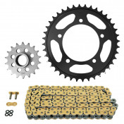 CHAIN AND SPROCKET KIT FOR APRILIA 850 MANA 2007>2013, MANA GT ABS 2009>2013 525 18x40 (REAR SPROCKET Ø 100/120/10.25) (OEM SPECIFICATIONS) -AFAM-