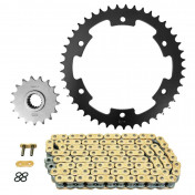 CHAIN AND SPROCKET KIT FOR APRILIA 1000 ETV CAPONORD 2001>2003, CAPONORD ABS 2004>2008 525 17x45 (REAR SPROCKET Ø 158.1/179/10.10) (OEM SPECIFICATIONS) -AFAM-