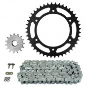 CHAIN AND SPROCKET KIT FOR APRILIA 650 IE PEGASO TRAIL 2007>2010 520 15x44 (BORE Ø 135.8/159.8/8.5) (OEM SPECIFICATION) -AFAM-