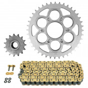 CHAIN AND SPROCKET KIT FOR DUCATI 1200 MULTISTRADA 2010>2017, MULTISTRADA S 2010>2017, MULTI STRADA ABS 2010>2017 530 15x40 (Rear sprocket Ø 60/110/38) (OEM Specifications) -AFAM-