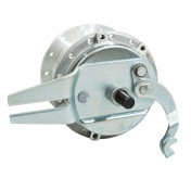 WHEEL HUB FOR MOPED PEUGEOT 103 -REAR- 28 spokes- WITH DRUM BRAKING PLATE + AXLE -SELECTION P2R-